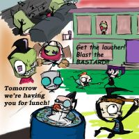 Bad Taste-Invader Zim Doodles2 by 4Anime
