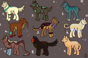Adoptables [ALL TAKEN/SOLD] by melancholxyz