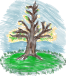 Free Sketch 2: Tree painting by SnowWolf10