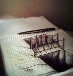 3d bridge (Arthur T. Cortez) by ATCdrawings