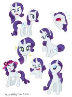 Rarity Doodles by BrendaHickey