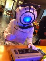 Wheatley cosplay, trying to lear the video games! by WheatleyLab