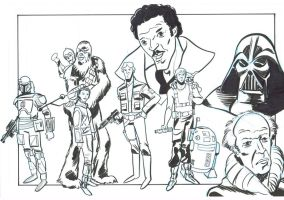 star wars tribute inks by frankenart
