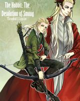 Legolas and Thranduil - The Desolation of Smaug by Purple-Meow