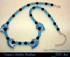 Tristan's Dolphin Necklace by 1337-Art