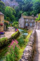 Derbyshire Village River by teslaextreme