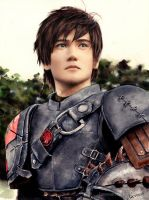 Painting Liui Aquino as Hiccup - Scan by Laovaan