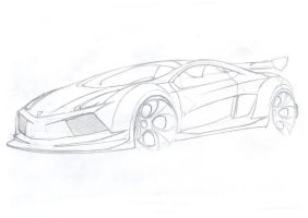 lambo-sketch by Morfiuss