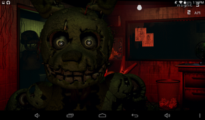 springtrap jumpscare while playing FNaF3 by Vegito1102