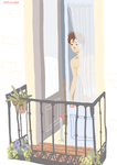 jongin | en el balcon by Julia-Yes