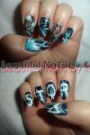 Storm from X-Men Nail Art by shineegurl18