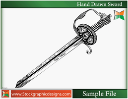 Hand Drawn Sword-Vector by Stockgraphicdesigns