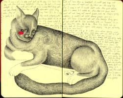 If I were a cat - journal24 by LadyOrlandoArt