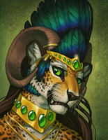 Gold and Green by Shadow-Wolf