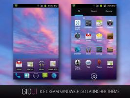 Ice cream sandwich Go Launcher Theme by giouiteam