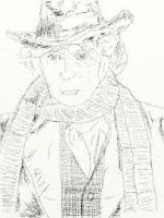 Tom Baker touchpad drawing by abolatinge