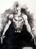 Punisher Black and White by Eric Meador by Meador