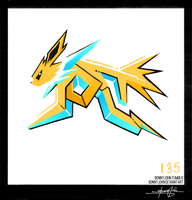 Jolteon!  Pokemon One a Day! by BonnyJohn