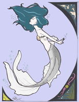 Mermaid Nouveau - colored by Laquera