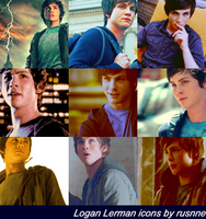 Logan Lerman icons by paranoid97