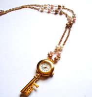 Time's Lover Clock Necklace by prheat