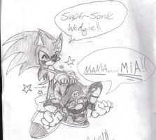 super sonic wedgie by Callihanclan