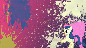 Bon Bon Splatter Wallpaper by brightrai