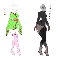 Female Outfit Adopts - SOLD by ShadowInkAdopts