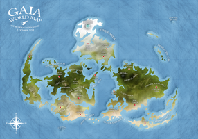 GAIA WORLD MAP - Final Fantasy VII by AndrewScrolls