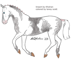 Canter Lineart By Kholran-d4mtubb by bobby66194