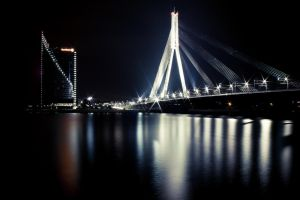Night Time in Riga by Misantropolis