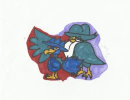 murkrow and honchcrow by ResidentEvilhunters