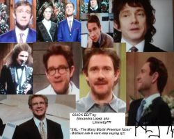 SNL HOST - Many Martin Freeman Faces by LilianettyPR