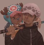 Chopper and Law by FinnPants