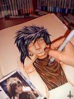 Andy Biersack. WIP by Kagoe