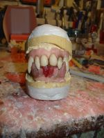 Werewolf dentures not finished as yet by JonnyGore