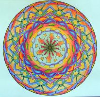 Merging Colours Mandala by Lou-in-Canada