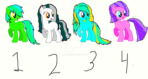 Pony Adoptables 6 (Earth ponies)! OPEN! by Torri11