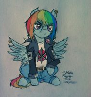 Dashie is a Punk Rocker by WillisNinety-Six