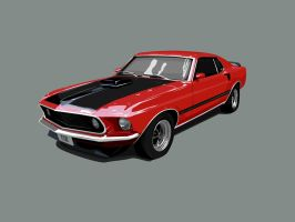 ford mustang mach 1 1969 by visceralNL