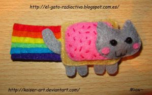 Nyan cat felt by kaiser-art