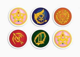 Sailor Moon Stickers by CrafterOfManyThings
