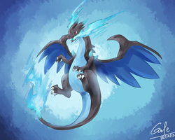 [Speed Paint] Charizard X by CrisisAlter