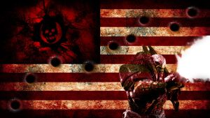 locust shootout flag by Bartistictouch