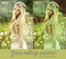 Green vintage summer psd by chiccaherbana