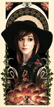 Mucha-inspired Lindsey Stirling portrait by Lynore713