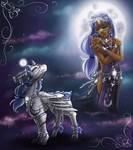 Hitori: Lady of the Moon by silver-dragonetsu
