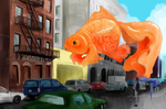 Giant Goldfish by apple-sniper