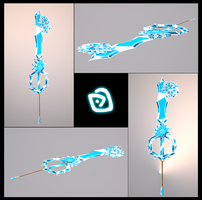 Atlantis's Heart Keyblade 3D by portadorX