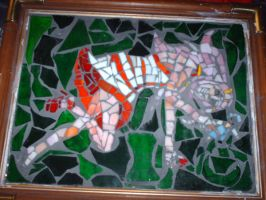 Anemone Glass Mosaic by flclalchemist145